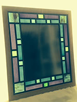 Leaded Stained Glass Mirror Caryl Hallet