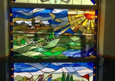 Knaresborough Golf club commemorative Windows